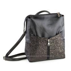 Rjet рюкзак без клапана, черный титан с глиттером
