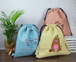 Детский рюкзак-мешок из кожзама. Цвет на выбор.