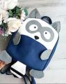 Детский рюкзачок Baby raccoon, ручная работа