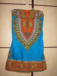 Новое индийской платье сари S