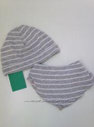 Комплект набор шапка хусточка H&M 2-9 мес.