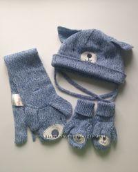 Набор комплект шапка шарф рукавички H&M
