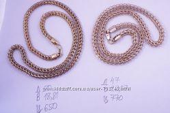 Позолоченные серебряные цепочки 925 пробы