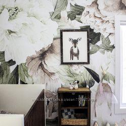 Фотообои в винтажном стиле Акварельный рисунок цветов