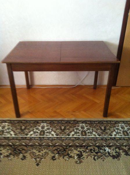 Стол деревянный полированный раскладной