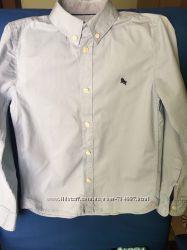 Детская рубашка голубая H&M бу на рост 140 см
