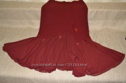 Бомбезная юбка Rezzan цвета марсала, р. 50-52 наш