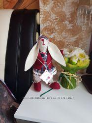 Зайчик - интерьерная игрушка, в стиле тильда