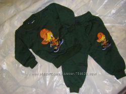Трикотажные костюмчики для малышей 6-18 мес