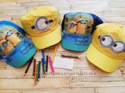 Шапки, кепки, бейсболки Дисней, Никелодион, 2-6 лет мальчикам и девочкам