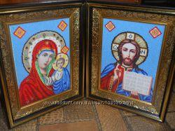 Венчальные иконы вышитые бисером
