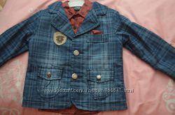 Комплект пиджак и рубашка для мальчика 98