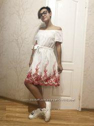 Красивые платья с вышивкой на девочку р. 8-10-12-14-16, Венгрия
