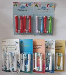 Детские и взрослые насадки для электрической зубной щетки Oral-B Braun