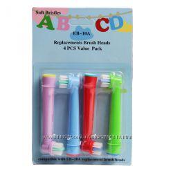 Детские насадки для электрической зубной щетки Oral-B Braun.