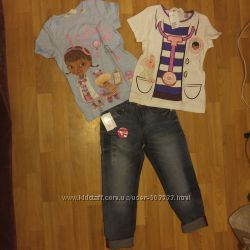 Комплект футболок от H&M и джинсы от C&A р. 134140.