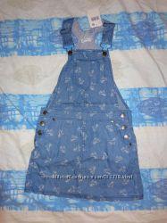 Сарафан джинсовый Pumpkin Patch р-р 6-7 лет на рост 122 128 см