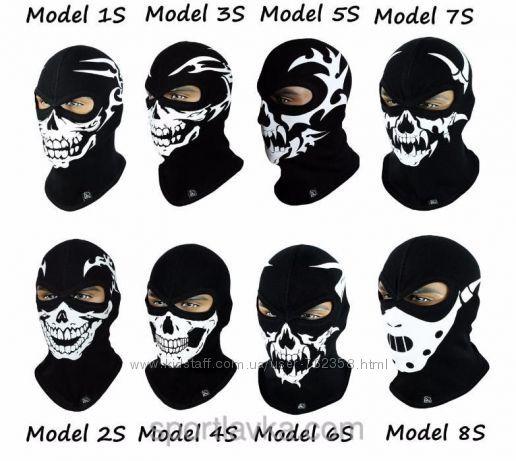 Балаклава утепленная с черепом Radical Scull маска подшлемник Польша