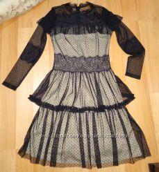 Платье гипюр чёрное . Новое. Турция