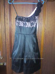 Черное платье, рост до 156 см
