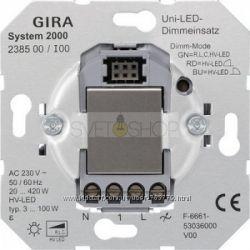 Диммер, Светорегулятор Gira - механизм арт. 238500  накладка арт. 23160