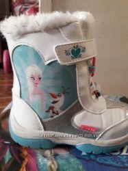 Frozen Disney Холодное сердце новые зимние ботинки сапожки 24 р