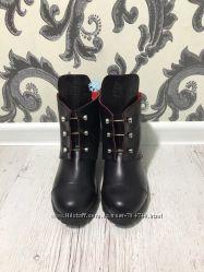 Зимние ботинки из натуральной кожи 2 цвета
