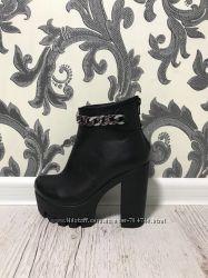 Зимние ботинки из натуральной или замши