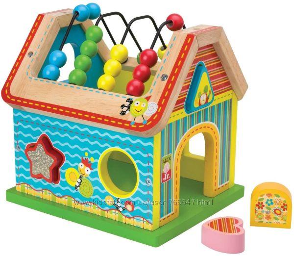 Развивающая деревянная игрушка Домик ALEX Toys Sort & Count