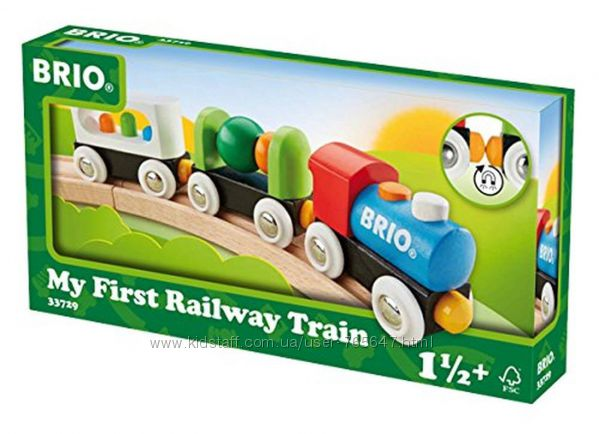 Деревяный поезд паровоз BRIO эко игрушки