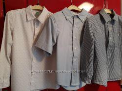 3 рубашки мальчику ростом 120-126 см