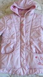 Теплая куртка на флисе и синтепоне деми для девочки, р. 116БУНЕ СЕКОНД