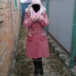 Пальто-дублянка зимова в ідеальному стані