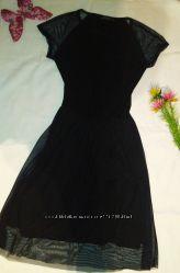 Шикарное платье миди с сеткой