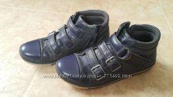 Clarks кожанные кроссовки-ботинки 1, 5 F
