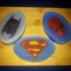 Мыло Лига справедливости Justice League- Супермен, Бэтмен, Человек-паук