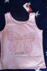 Новая майка футболка - розовая