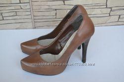 Кожаные туфли  NEW LOOK 35-35, 5р идеал