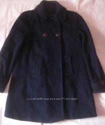 Темно синее пальто Gap, шерсть, оригинал, состояние нового