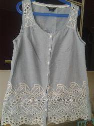 Нежная блуза ажур  без рукавов F&F UK 8