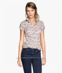 Легкая летняя блузочка H&M чистый хлопок размер S