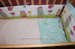 Twins comfort защита для детской кроватки комплект