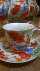 Чайный сервиз  на 6 персон на металлической подставке