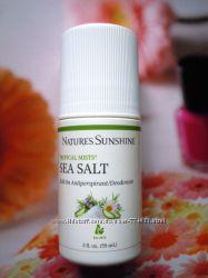 Гипоаллергенный, безопасный дезодорант Natures Sunshine Sea Salt
