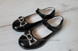 Туфли школьные р26-31 кожаные Берегиня 0675