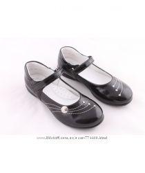 Туфли школьные кожаные на девочку р26-31 Берегиня 0611 черный