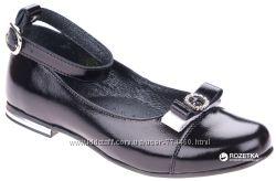 Туфли школьные кожаные на девочку р32-35 Берегиня 0751 черный
