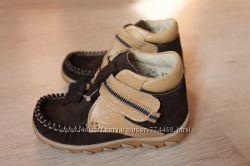 Ботинки кожаные на мальчика Берегиня 2710