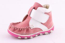 Ботинки кожаные р20-25 на девочку Берегиня 2707