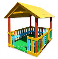 Деревянный домик беседка Ягодка детский